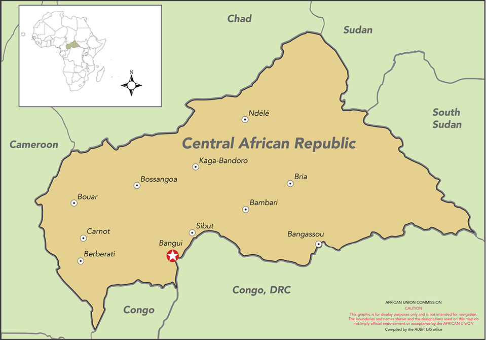 African Union Map.Map Of Car Apsa Peace And Security Au